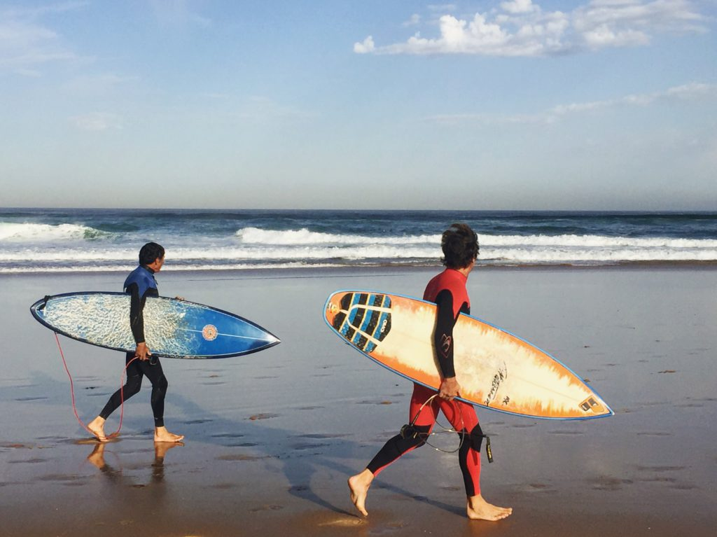 Surfers on Praia do Guincho