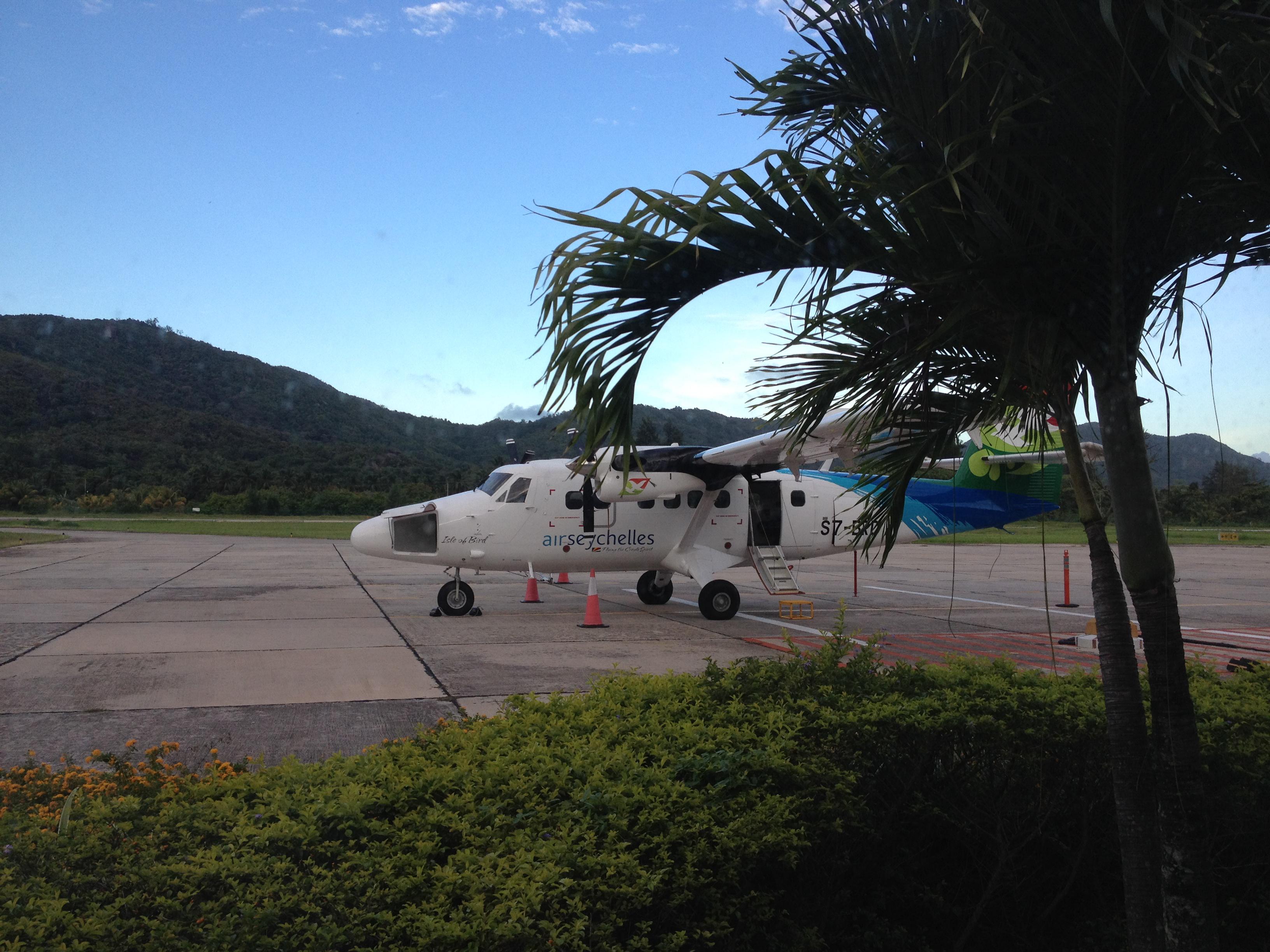 Flyet vårt till Mahe
